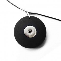 Interchangeable necklace in silver gray 43mm diameter - necklace base only