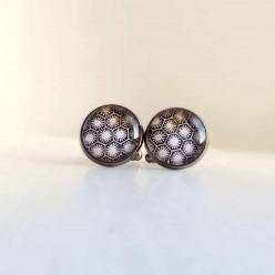 Hexagons and stars cuff links.
