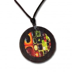 Collier en ardoise multi-colore 'Fruit Juice' - façon Klimt