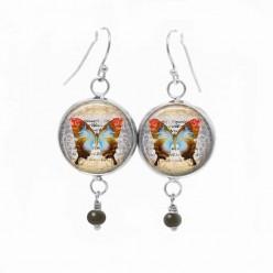 Ohrringe Lust auf hängen mit der Vintage Schmetterling-Thema