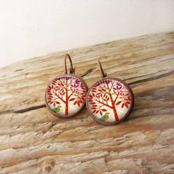 Format Ohrringe Schwellen Thema roter Baum
