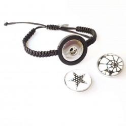 Bracelet interchangeable avec plateau couleur noir