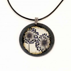 Slate Necklace featuring agapanthus flowers