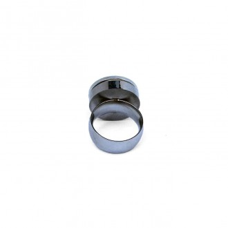 Bague taille fixe en acier inoxydable pour cabochon interchangeable / personnalisable