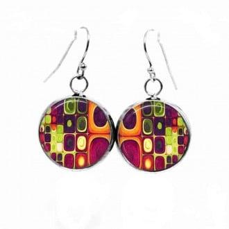 Boucles d'oreilles pendantes Thème Klimt