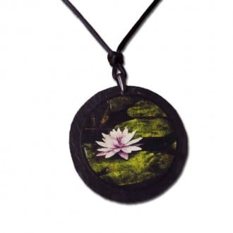 Water lily' Slate necklace
