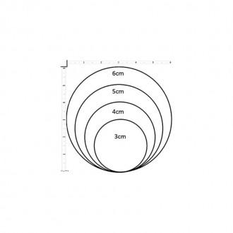 Collier en ardoise thème Yule Cercles Noir, Blanc et Or