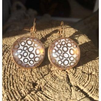 Boucles d'oreilles dormeuses cercles d'or rose