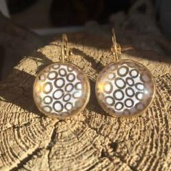 Boucles d'oreilles dormeuses cercles d'or