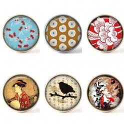 Lot de boutons interchangeables - Collection Japonisante