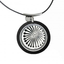 Customizable necklace for cabochon / snap button in silver gray: only necklace