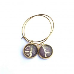 Butterfly Wing themed 12mm Silver hoop earrings