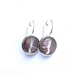Butterfly Wing themed 12mm Silver Sleeper lever-back earrings