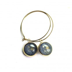 Milky Way themed 12mm Gold Stainless Steel Loops