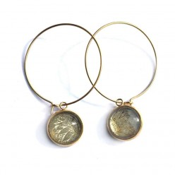 Sunflowers 12mm Gold Stainless Steel Loops