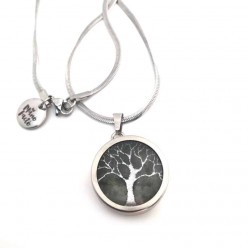 Tree of Life interchangeable pendant on stainless steel Chain