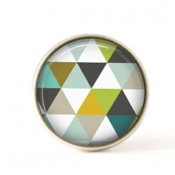 Interchangeable clip on buttons green triangles