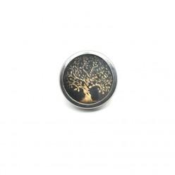 Bouton - cabochon pour bijoux personnalisables avec le thème arbre de la vie or et vert sauge 2