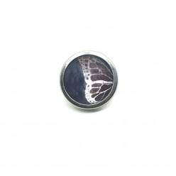 Button - cabochon for customizable jewelry with the blue and pink butterfly wing theme