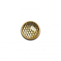 Bouton - cabochon pour bijoux personnalisables avec le thème gouttes d'or