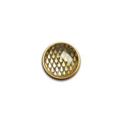 Button - cabochon for customizable jewelry with the theme of gold drops
