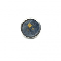 Button - cabochon for customizable jewelry with the theme of silver drops