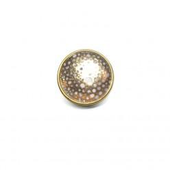 Bouton / cabochon pour bijoux personnalisables points or ou argent