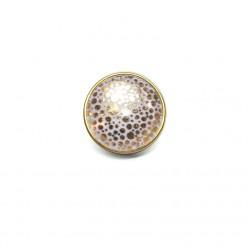 Bouton / Cabochon pour bijoux interchangeables- Pois or ou argent