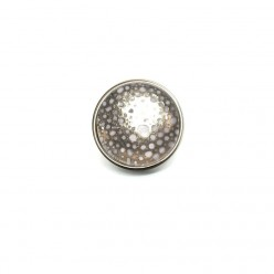 Button cabochon clip for interchangeable jewelry - gold or silver circles theme