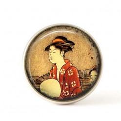 Cabochon pour bijoux interchangeables- Geisha.
