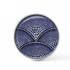 Cabochon / bouton pour bijoux interchangeables - Batik bleu marine