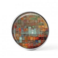 Cabochon / bouton pour bijoux interchangeables - Mosaïques déclinaisons de rouille