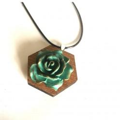 Vedigris brass rose interchangeable button