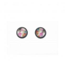 Boucles d'oreilles clous avec le thème Boho Triangles aquarelle rousses