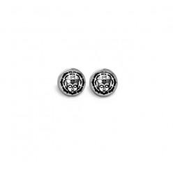 Boucles d'oreilles clous ou puces motif buddha