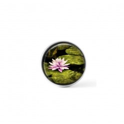Cabochon/Button for Interchangeable Jewelry - Pink waterlilly theme