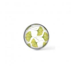 Cabochon / bouton pour bijoux interchangeables - thème feuille de ginkgo