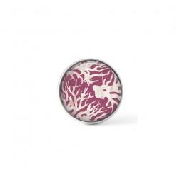 Cabochon / bouton pour bijoux interchangeables - thème corail magenta