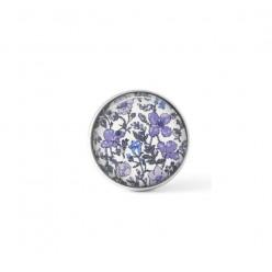 Cabochon / bouton pour bijoux interchangeables - thème floral violet Liberty's Meadow