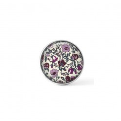 Cabochon/Button for Interchangeable Jewelry - Liberty's Meadow Mauve floral theme