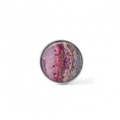 Cabochon/Button for Interchangeable Jewelry - Pink mineral theme