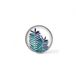 Cabochon / bouton pour bijoux interchangeables - thème feuilles de palmier