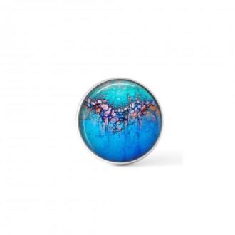Cabochon / bouton pour bijoux interchangeables - Thème bleu profond d'été Litha