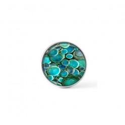 Cabochon / bouton pour bijoux interchangeables - thème des ronds turquoise profond