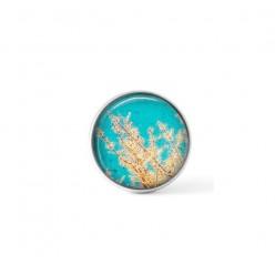 Cabochon / bouton pour bijoux interchangeables - thème Branches et ciel bleu