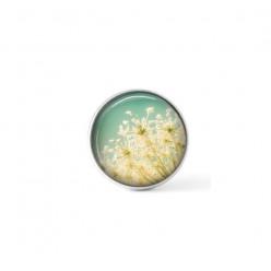 """Cabochon / bouton pour bijoux interchangeables - thème à partir d'une photo de la fleur """"dentelle de la reine Anne"""""""