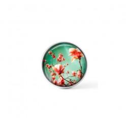 Cabochon / bouton pour bijoux interchangeables - thème Magnolias