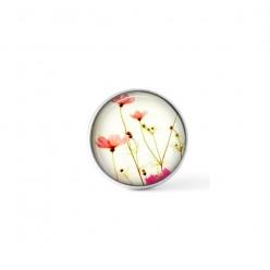 Cabochon / bouton pour bijoux interchangeables - thème fleurs Cosmos