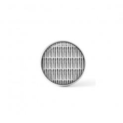 Cabochon / bouton pour bijoux interchangeables - thème des lignes noires et blanches