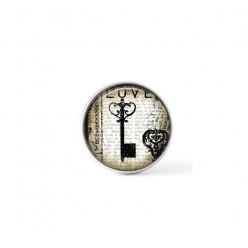 Cabochon / bouton pour bijoux interchangeables - Thème clé Vintage